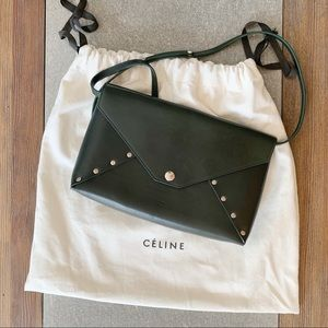 CELINE Biker Studded Envelope Bag